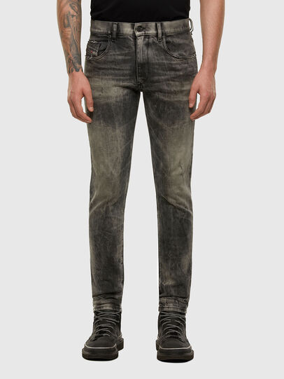 Diesel - D-Strukt 009EV, Nero/Grigio scuro - Jeans - Image 1