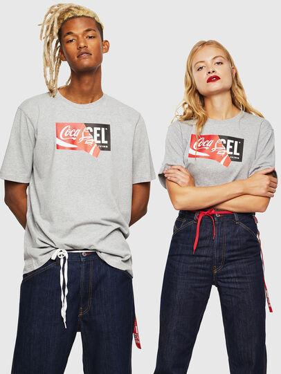 Diesel - CC-T-JUST-COLA, Grigio - T-Shirts - Image 6
