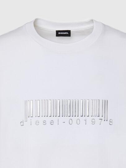 Diesel - T-JUST-SLITS-X85, Bianco - T-Shirts - Image 3