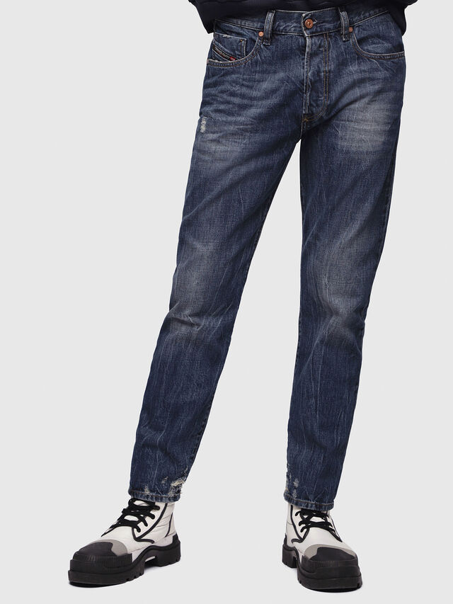 Diesel - Mharky 080AG, Blu Scuro - Jeans - Image 1