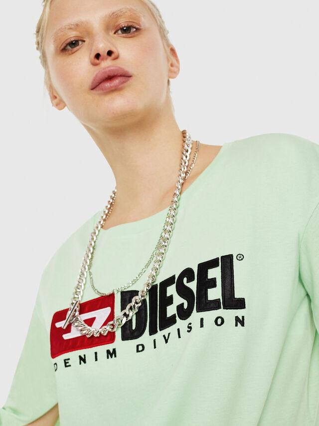 Diesel - T-JACKY-D, Verde Fluo - T-Shirts - Image 3