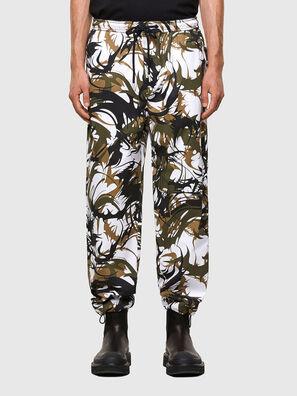 P-TRIBE, Bianco/Verde - Pantaloni