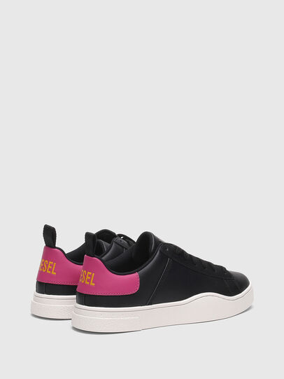 Diesel - S-CLEVER LOW LACE W, Nero/Rosa - Sneakers - Image 3