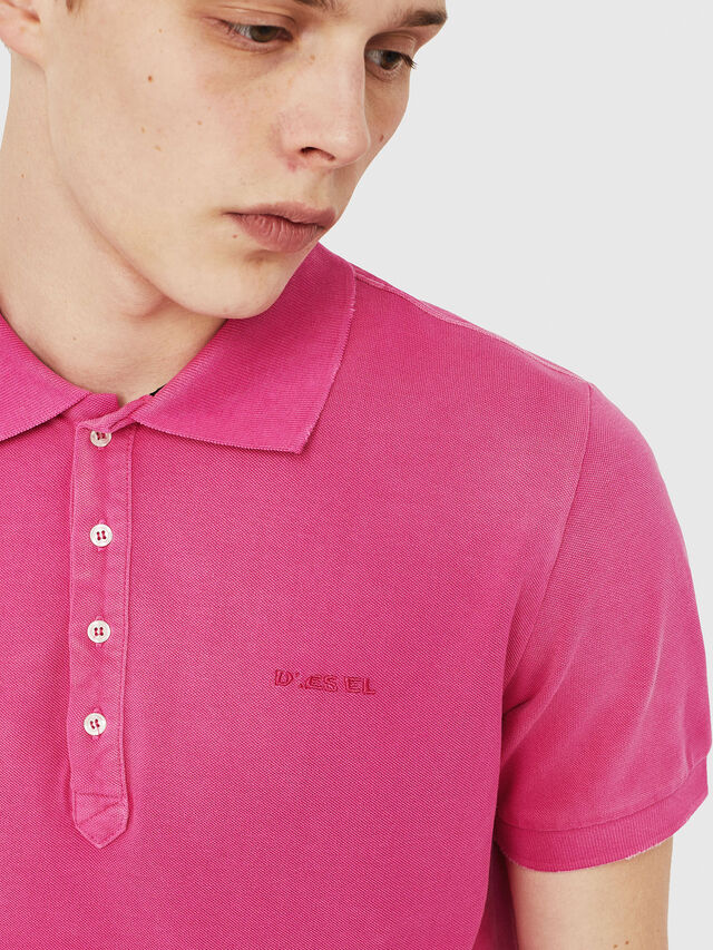 Diesel - T-NIGHT-BROKEN, Fucsia - Polo - Image 3