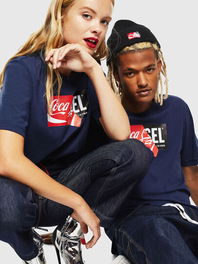 Diesel - CC-T-JUST-COLA, Blu Scuro - T-Shirts - Image 6