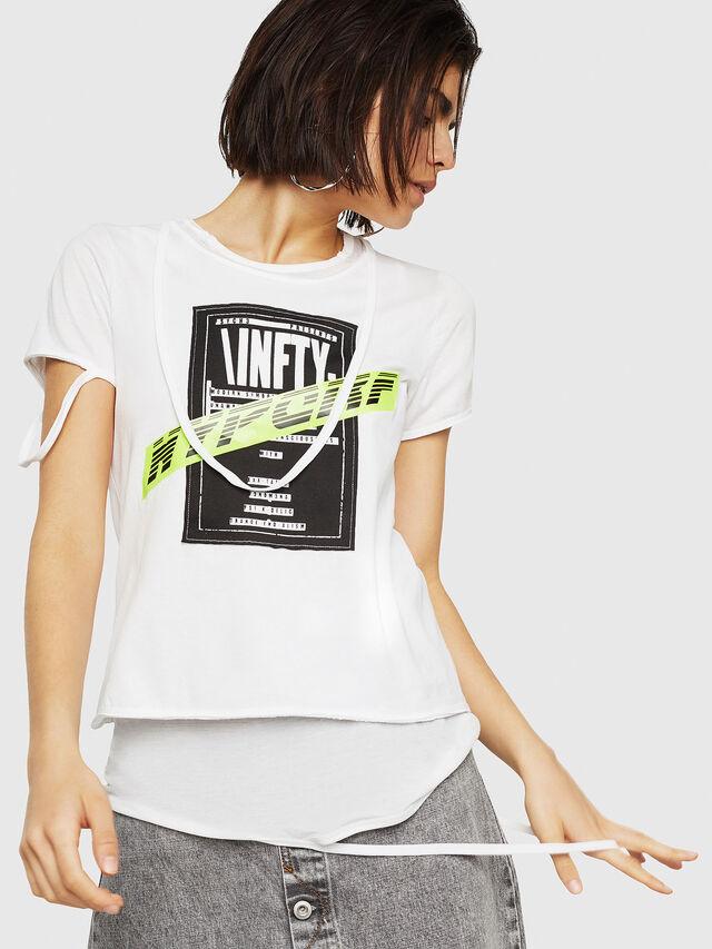 Diesel - T-EMIKO-B, Bianco - T-Shirts - Image 1