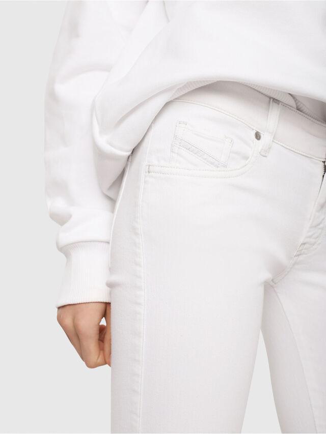 Diesel - Slandy Low 086AC, Bianco - Jeans - Image 3