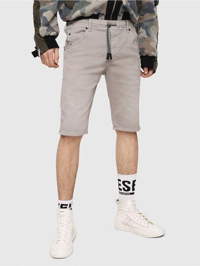 Diesel - D-KROOSHORT JOGGJEANS, Grigio - Shorts - Image 1