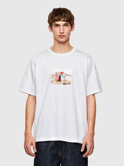 Diesel - T-TUBOLAR-B2, Bianco - T-Shirts - Image 1