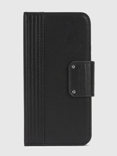 Diesel - BLACK LINED LEATHER IPHONE X FOLIO,  - Cover a libro - Image 2