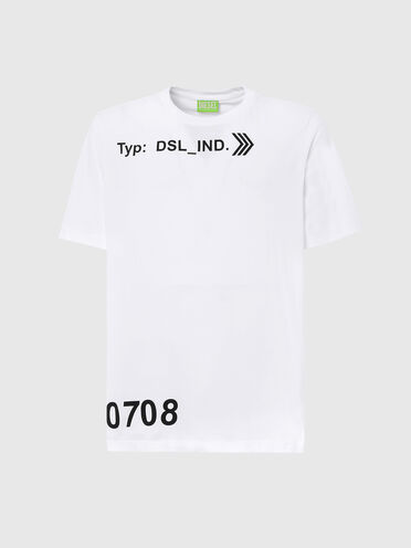 T-shirt Green Label con stampa DSL_IND