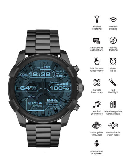 Diesel - DT2004, Grigio Metallizzato - Smartwatches - Image 1