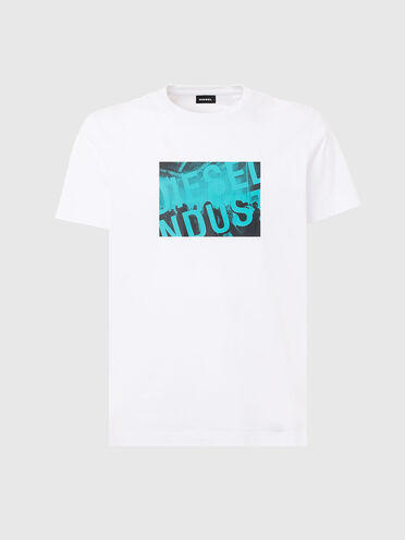 T-shirt con stampa del logo Diesel Industry