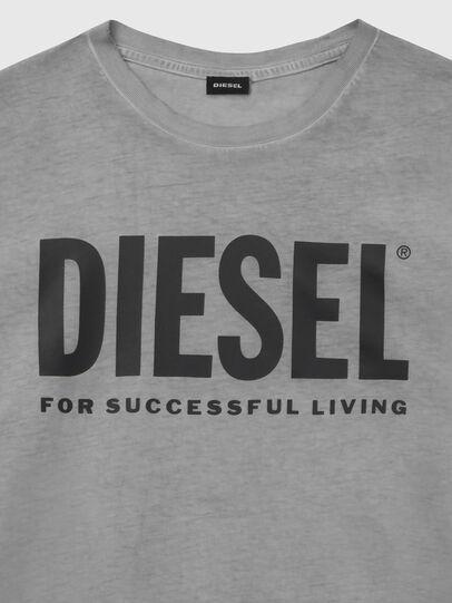 Diesel - T-DIEGO-LOGO, Grigio scuro - T-Shirts - Image 3