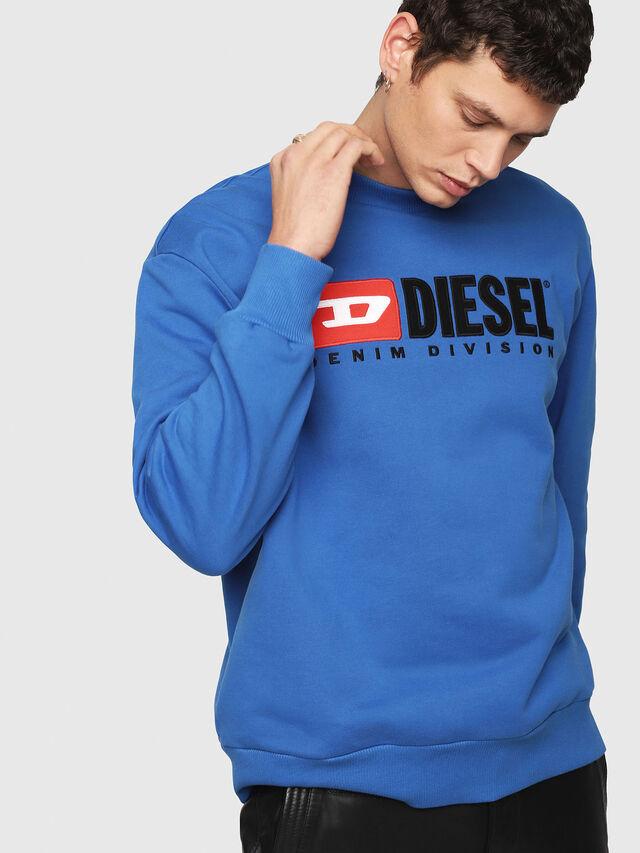 Diesel - S-CREW-DIVISION, Blu Brillante - Felpe - Image 4