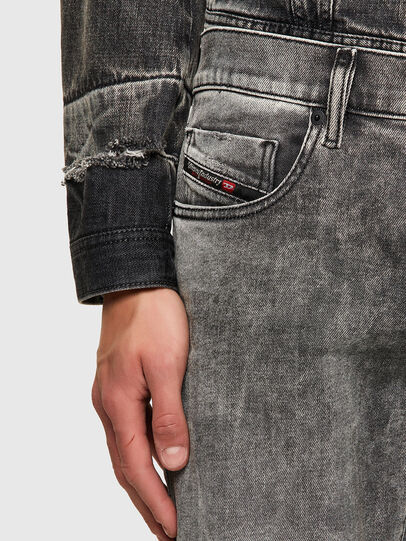 Diesel - D-Strukt 009KA, Grigio Chiaro - Jeans - Image 4