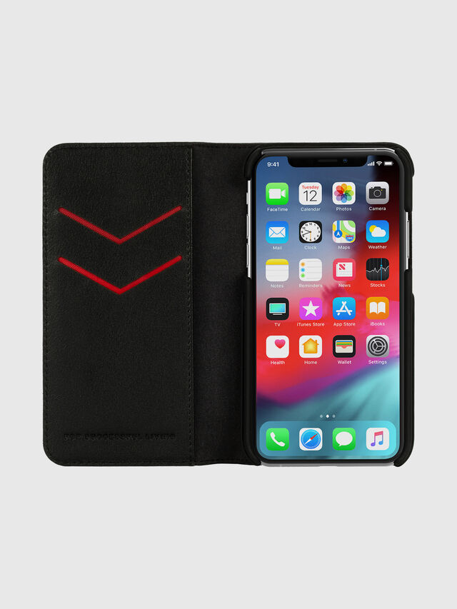 Diesel - DIESEL 2-IN-1 FOLIO CASE FOR IPHONE XS & IPHONE X, Nero/Bianco - Cover a libro - Image 6