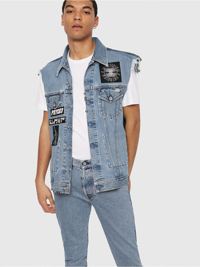 Diesel - Mharky 0077Z, Blu medio - Jeans - Image 6