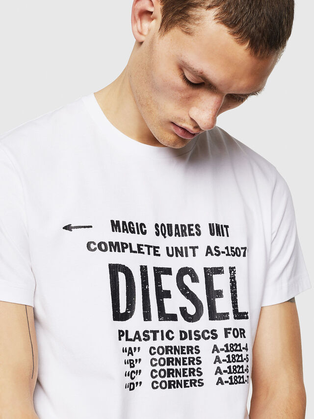 Diesel - T-DIEGO-B6, Bianco - T-Shirts - Image 3