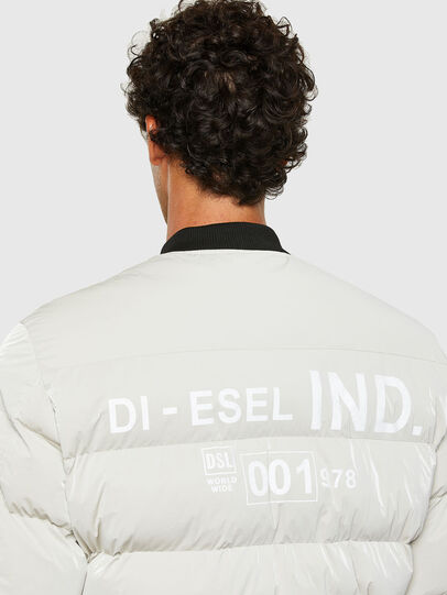 Diesel - W-ON-A, Bianco - Giacche invernali - Image 4