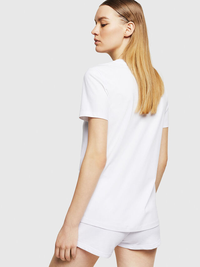 Diesel - UFTEE-SILY-INT, Bianco - T-Shirts - Image 2