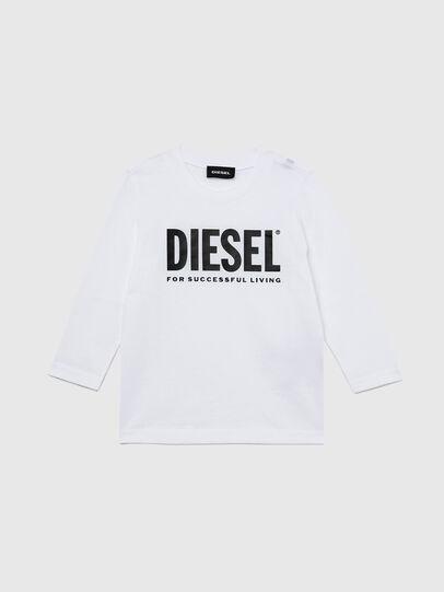 Diesel - TJUSTLOGOB ML-R, Bianco - T-shirts e Tops - Image 1