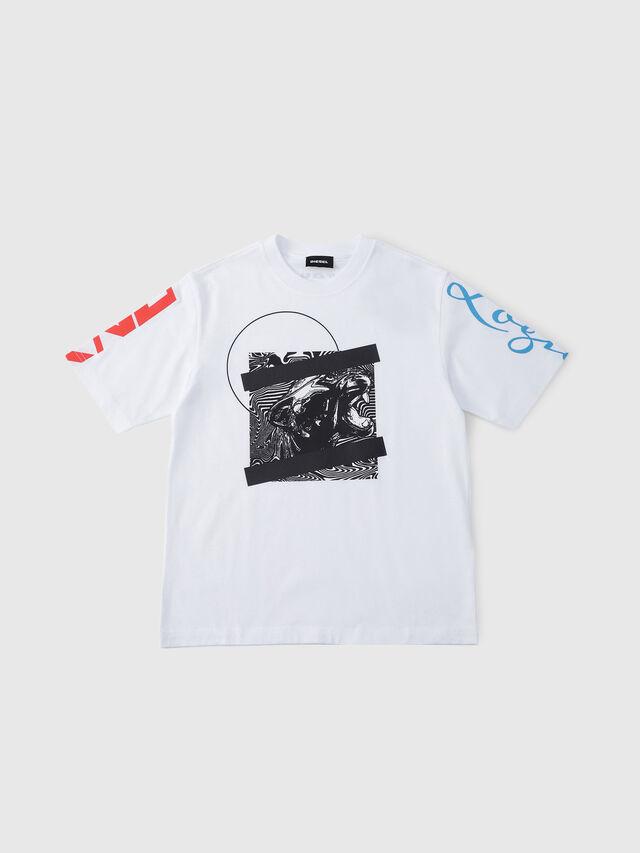 Diesel - TJUSTSH OVER, Bianco - T-shirts e Tops - Image 1