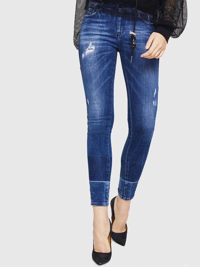 Diesel - Slandy 0090K, Blu medio - Jeans - Image 1