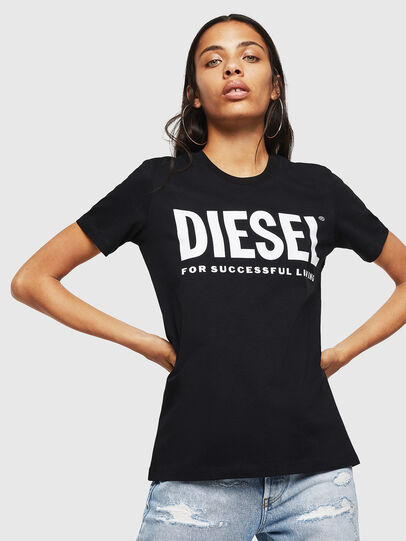 Diesel - T-SILY-WX, Nero - T-Shirts - Image 1