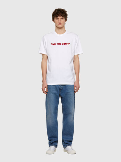 Diesel - T-JUST-E4, Bianco - T-Shirts - Image 5