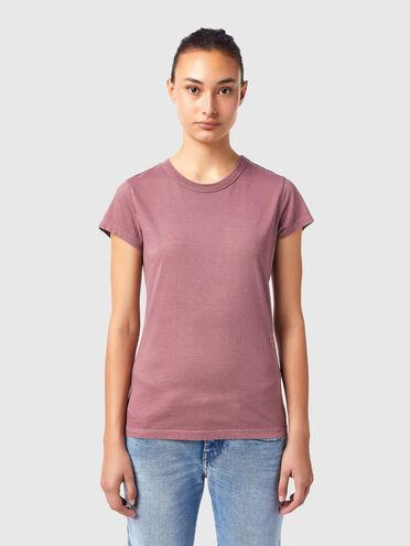 T-shirt con ricamo in tinta