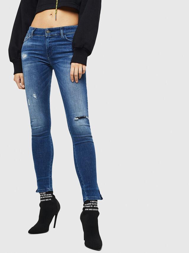 Diesel - Slandy Zip 089AI, Blu medio - Jeans - Image 1