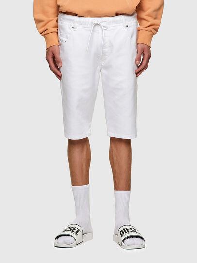 Diesel - D-KROOSHORT JOGGJEANS, Bianco - Shorts - Image 1