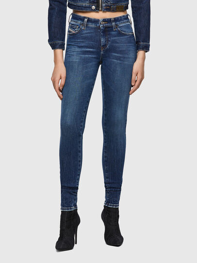 Diesel - Slandy 009ZX, Blu Scuro - Jeans - Image 1