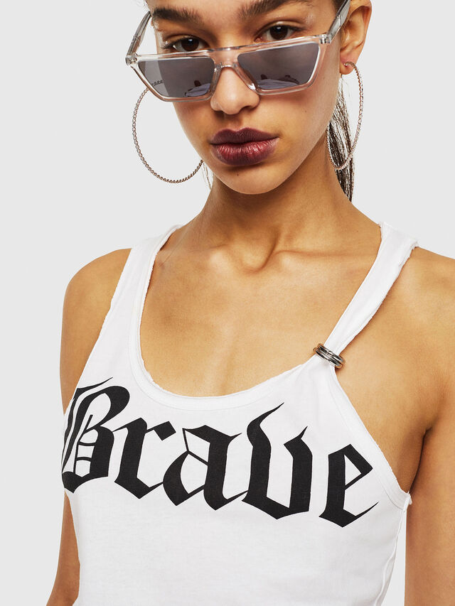 Diesel - T-KARY-A, Bianco - T-Shirts - Image 3