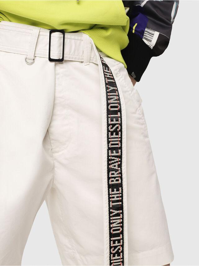 Diesel - P-TOSHI-SHORT, Bianco - Shorts - Image 3