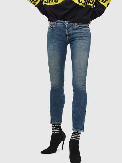 Diesel - Slandy Zip 083AL, Blu medio - Jeans - Image 1