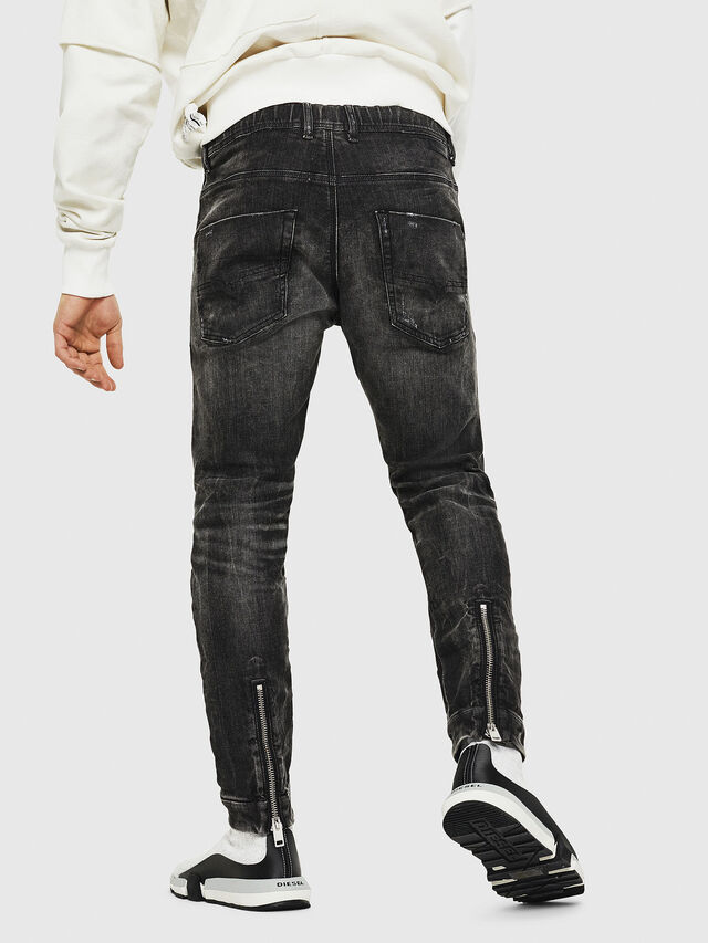 Diesel - Dvl-Krooley JoggJeans 0077S, Nero/Grigio scuro - Jeans - Image 2