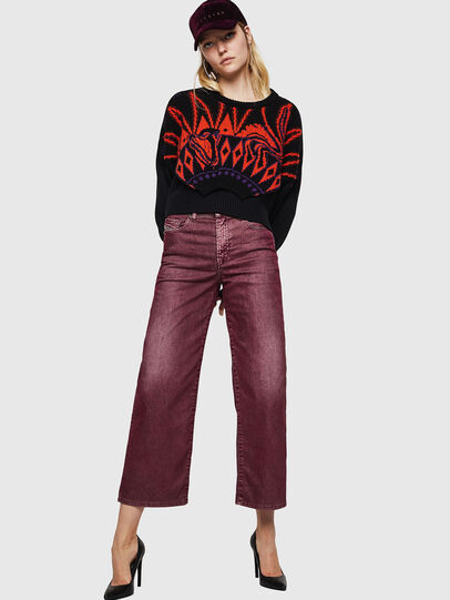 Diesel - Widee 0091T, Borgogna - Jeans - Image 6