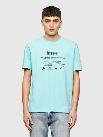 Diesel - T-JUST-E9, Blu Chiaro - T-Shirts - Image 1