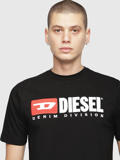 Diesel - T-JUST-DIVISION, Nero - T-Shirts - Image 3