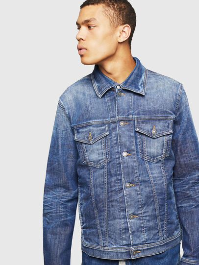 Diesel - NHILL-TW, Blu Jeans - Giacche in denim - Image 1