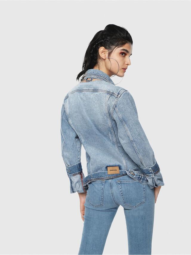 Diesel - DE-NALINI, Blu Jeans - Giacche in denim - Image 2