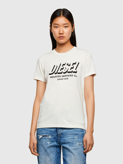 Diesel - T-SILY-R4, Bianco - T-Shirts - Image 1