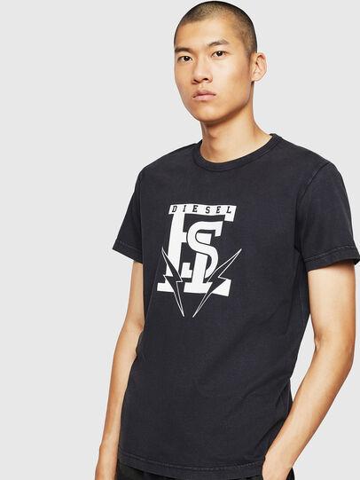Diesel - T-DIEGO-B14, Nero - T-Shirts - Image 1