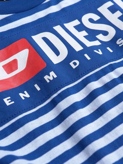 Diesel - TVIKTOR OVER, Blu/Bianco - T-shirts e Tops - Image 3