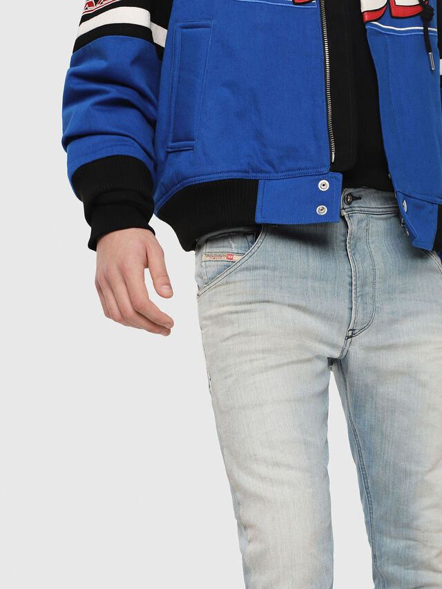 Diesel - Krooley JoggJeans 087AB, Blu Chiaro - Jeans - Image 3