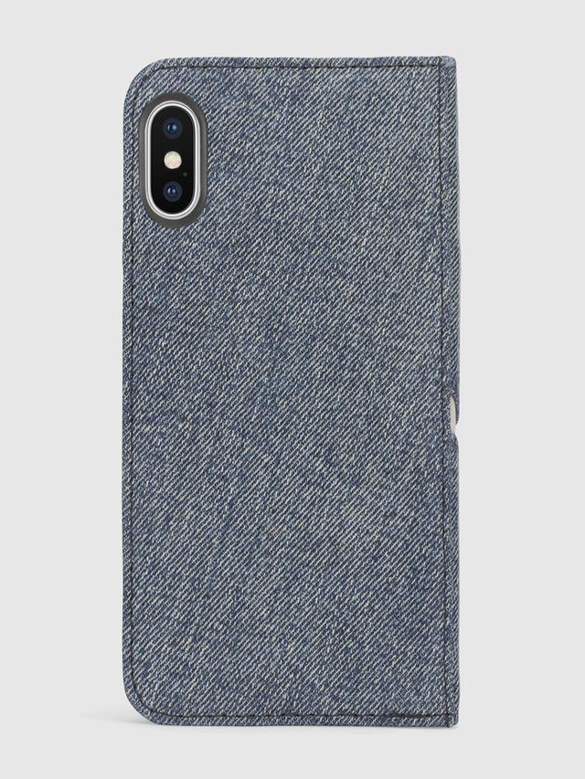 Diesel - DENIM IPHONE X FOLIO, Blu Jeans - Cover a libro - Image 3