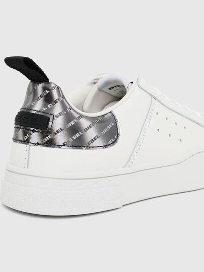 Diesel - S-CLEVER LOW W, Bianco/Argento - Sneakers - Image 4