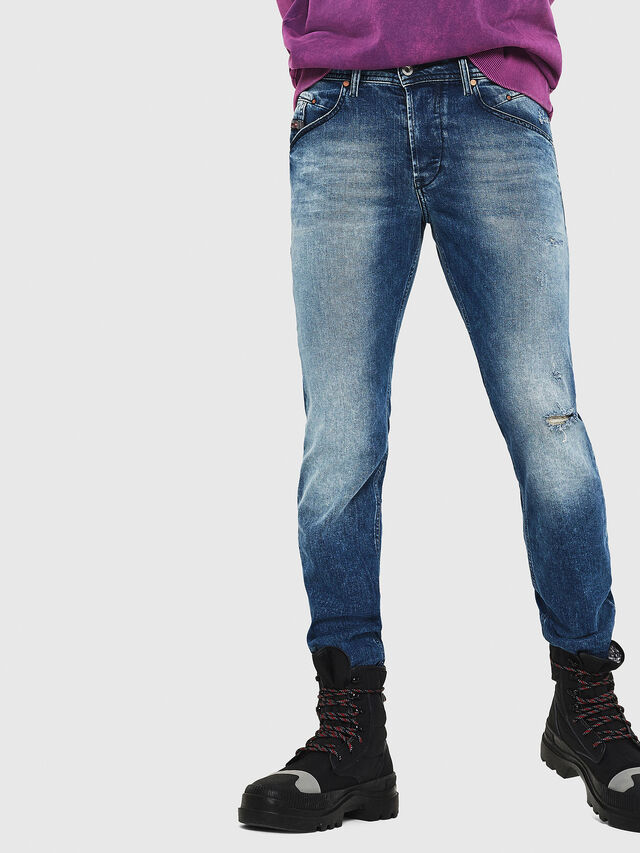 Diesel - Belther 081AQ, Blu medio - Jeans - Image 4